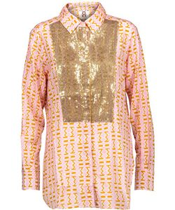 Figue | Lamu Sequin-Embellished Printed Cotton-Blend Gauze Shirt