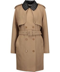 J.W.Anderson | Studded Faux Leather-Trimmed Wool-Blend Twill Trench Coat