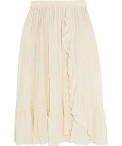 Michael Kors Collection | Ruffled Crinkled-Cotton Skirt