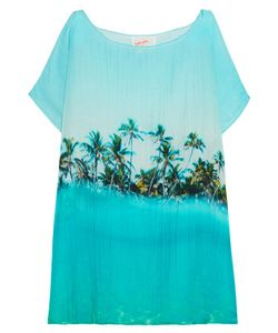 Samudra | Paradise Printed Cotton And Silk-Blend Coverup
