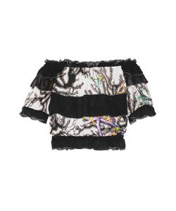 Just Cavalli | Off-The-Shoulder Ruffled Printed Broadcloth Top