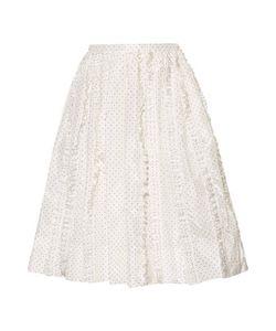 Rochas | Ruffled Polka-Dot Silk-Twill Skirt