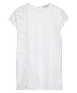 Nina Ricci | Pintucked Broderie Anglaise Cotton Top