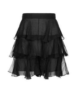 Balmain | Woman Ruffled Silk-Chiffon Shorts Size