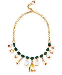 Dolce & Gabbana | Plated Swarovski Crystal And Enamel Necklace