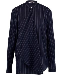 Dion Lee | Draped Pinstriped Woven Cotton Shirt