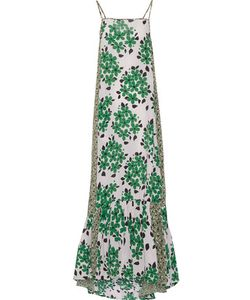 Suno | Pleated Printed Silk Maxi Dress