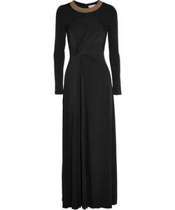 Michael Michael Kors | Twist-Front Studded Stretch-Jersey Gown