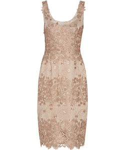 Marchesa Notte | Embroidered Tulle Dress