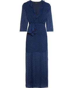 Saloni   Jennifer Flocked Chiffon Midi Dress