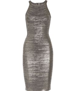 Hervé Léger | Renata Coated-Bandage Dress