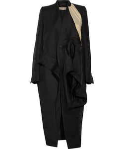 Rick Owens | Capotto Ruffled Silk-Twill Coat