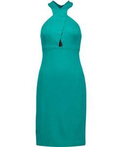 Alice + Olivia   Woman Tai Cutout Stretch-Ponte Dress Size