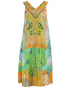 Emilio Pucci | Cutout Printed Silk Crepe De Chine Dress