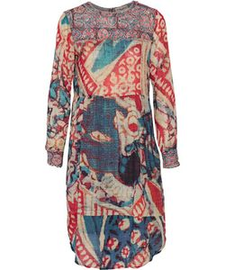 Figue | Cheyenne Printed Cotton-Blend Crepe De Chine Dress