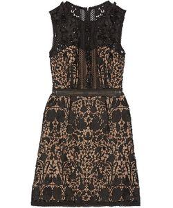 Marchesa Notte | Embellished Guipure Lace Mini Dress