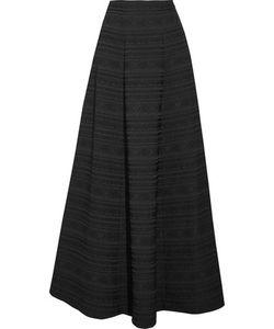 Alice + Olivia | Lexia Pleated Jacquard Maxi Skirt