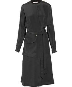 Tibi   Silk Crepe De Chine Midi Dress