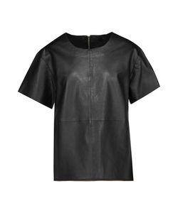 Muubaa | Piper Zip-Embellished Leather Top