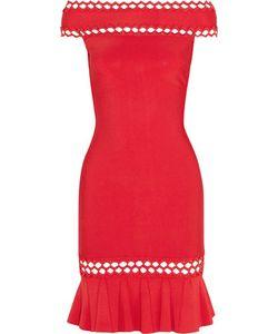 Hervé Léger | Cutout Off-The-Shoulder Bandage Mini Dress