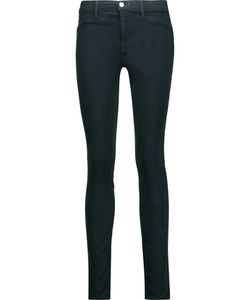 J Brand | 485 Mid-Rise Brushed-Twill Skinny Jeans