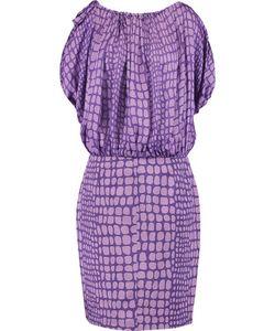Moschino | Printed Silk-Chiffon And Cotton-Blend Midi Dress