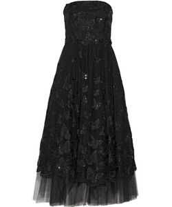 Marchesa Notte | Strapless Sequin-Embellished Embroidered Tulle Gown