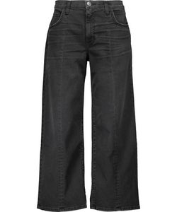 Current/Elliott | Mid-Rise Cropped Faded Flared Jeans