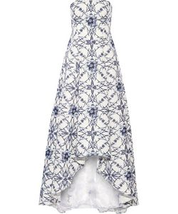 Marchesa Notte | Printed Cotton And Silk-Blend Faille Gown