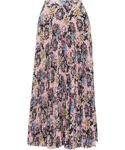 A.L.C.   A.L.C. Williams Pleated Printed Satin Midi Skirt