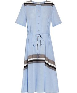 Suno | Striped Cotton-Voile Dress