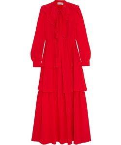 Sonia Rykiel | Tiered Ruffled Silk Crepe De Chine Maxi Dress