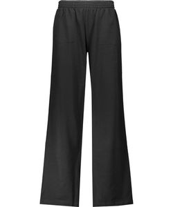 Norma Kamali | Cotton-Blend Wide-Leg Track Pants