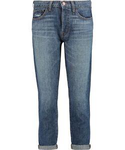 J Brand | Sadey Mid-Rise Cropped Straight-Leg Jeans