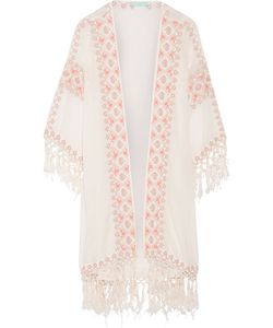 Melissa Odabash | Nic Embroidered Voile Robe Off-