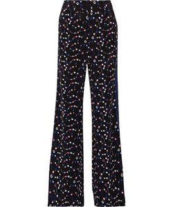 Derek Lam 10 Crosby   Striped Print Silk Wide-Leg Pants
