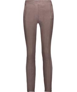 J Brand   Morgan Leather Skinny Pants