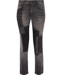 Facetasm | Patchwork Low-Rise Straight-Leg Jeans