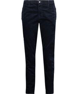 J Brand   Zion Stretch Cotton-Blend Velvet Skinny Pants Midnight