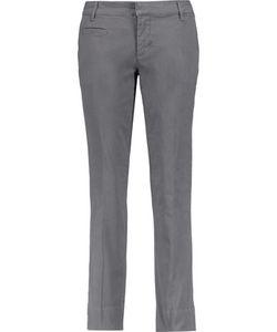 Tory Burch | Fillip Stretch-Cotton Twill Straight-Leg Pants 30