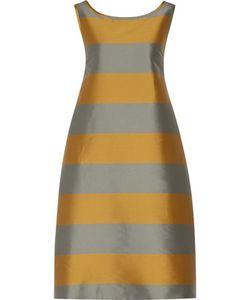 Rochas | Two-Tone Striped Satin Dress