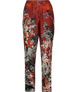 Roberto Cavalli | Printed Silk Crepe De Chine Straight-Leg Pants