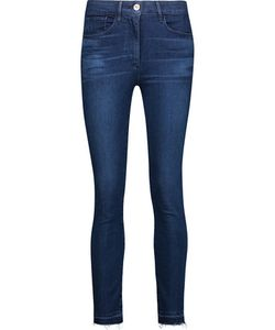 3X1   W3 Mid-Rise Frayed Skinny Jeans