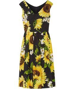 Dolce & Gabbana | Woman Print Cotton-Poplin Dress Size