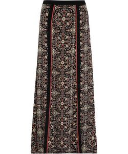 Talitha | Woman Raj Embroidered Printed Silk-Georgette Maxi Skirt Size