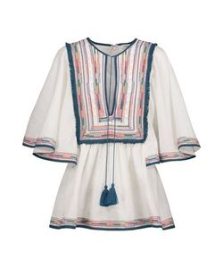 Talitha   Woman Kutch Angel Tasseled Embroidered Cotton Top Size