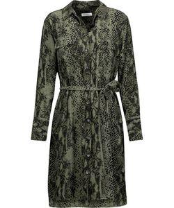 Equipment | Delany Snake-Print Washed-Silk Mini Dress