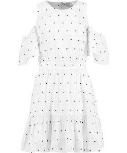 Tanya Taylor | Cold-Shoulder Embroidered Cotton-Blend Poplin Mini Dress