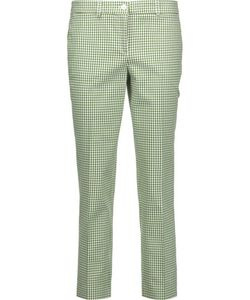 Michael Kors Collection | Gingham Stretch-Cotton Skinny Pants