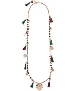 Rosantica   Tone Stone And Tassel Necklace One Size